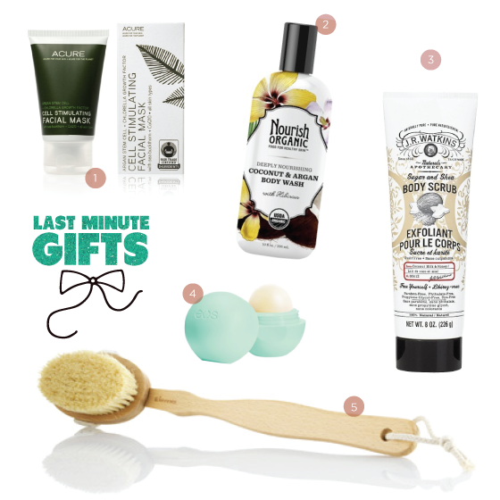 Last Minute Natural Holiday Gifts