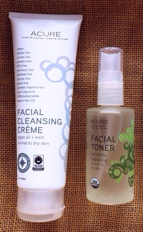 Acure Facial Cleansing Creme and Toner
